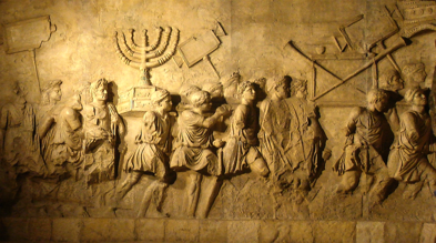 http://en.wikipedia.org/wiki/File:Arch_of_Titus_Menorah.png